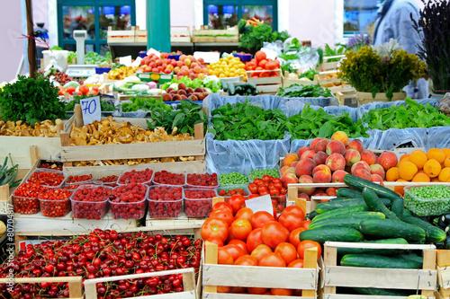 Deurstickers Boodschappen Farmers market