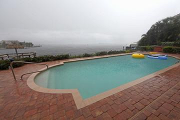 Swimming Pool whilst Raining