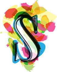 Artistic Font - Letter S