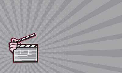 Business card Movie Clapboard Hand Cartoon