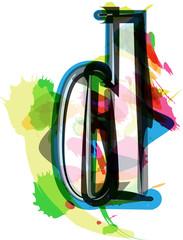 Artistic Font - Letter d