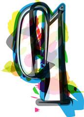 Artistic Font - Letter q