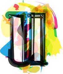 Artistic Font - Letter u