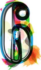 Artistic Font - Number 6