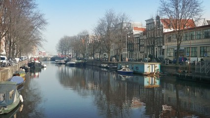 Scenic Canal In Central Amsterdam