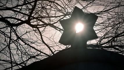 Sun Shines Through Star Of David