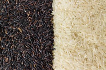 berry rice, white rice