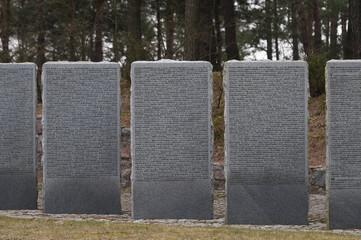 Endless graveyard in Poland