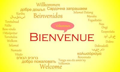 Tag Cloud Bienvenue Welcome Willkommen