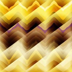 Yellow chevrons with diagonal strikes.