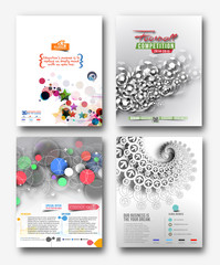 Flyer & Poster Design Set in A4 Size Template