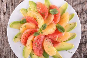 grapefruit and avocado