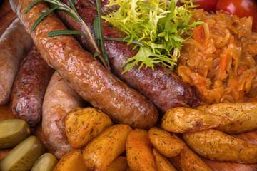 Sausage and potatos