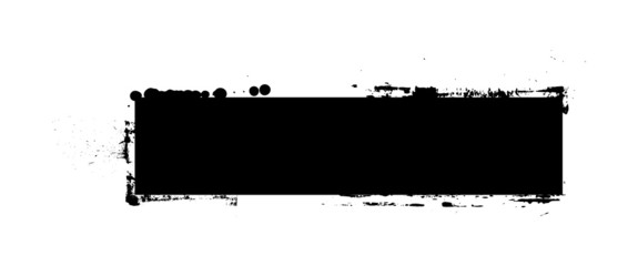 Black Shape Grunge Banner