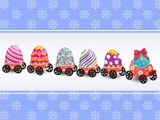 Convoy Easter eggs vector
