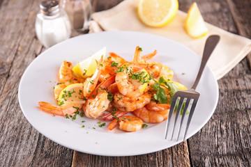 fried shrimp and parsley