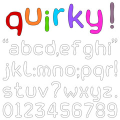 Quirky fun lower case font
