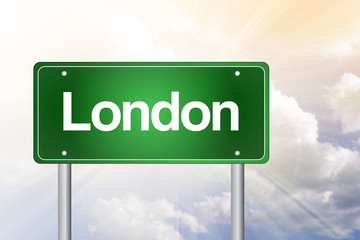 London Green Road Sign, Business Concept