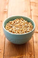 Oatmeal porridge on a table