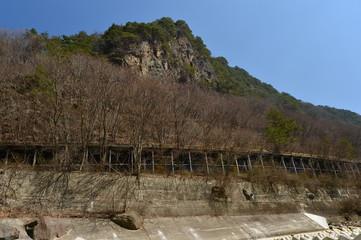 崖下を走る小海線