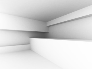 White Abstract Architecture Interior Background