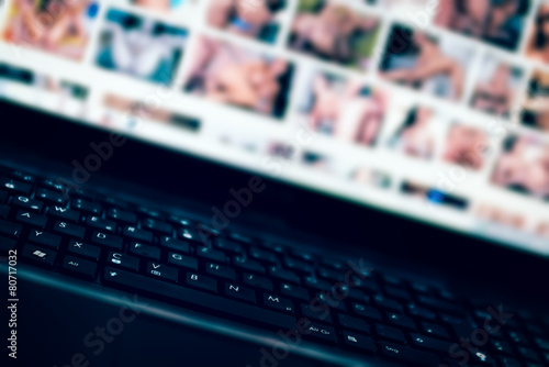 Leinwandbild Motiv Internet porn