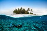 scuba diver coconut island kapoposang underwater bali lombok