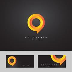 Abstract circle corporate logo