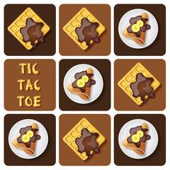 Tic-Tac-Toe of crepe and waffle