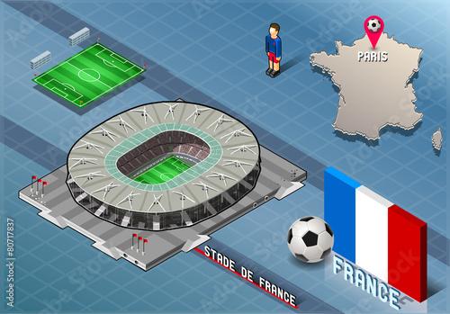 Isometric Soccer Stadium - Stadie de France Paris France - 80717837