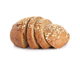 Fototapety whole wheat bread isolated on white background