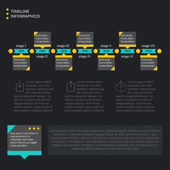 Timeline template infographics. Horizontal progress.