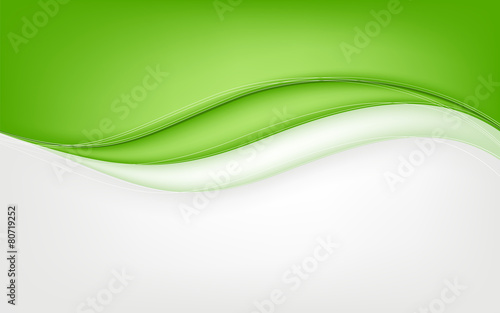 Abstract green wave background. Vector illustration - 80719252