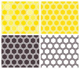 Honeycomb seamless pattern set