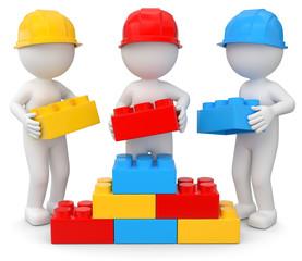 gemeinsamer Aufbau dreifarbig