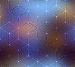 Abstract cubes pattern on blurred background. - 80720004
