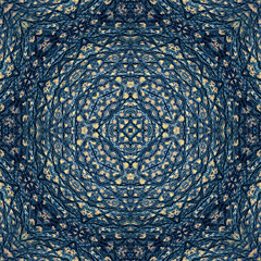 Abstract blue pattern resembling oriental rug