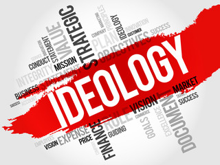 Ideology word cloud, business concept