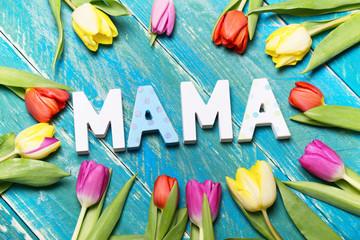 Mama Postkarte Danke
