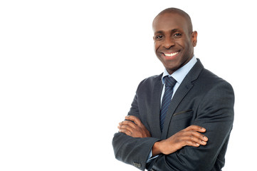 African businessman looking at camera