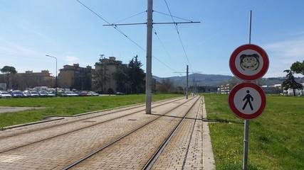 Attraversamento tramvia