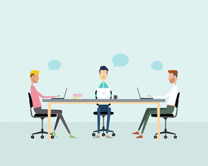 business teamwork meeting and working concept