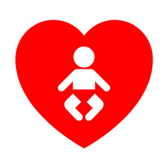 Icono corazon simbolo bebe