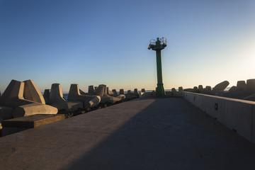 Harbor Concrete Pier Beacon Port Entrance Shipping
