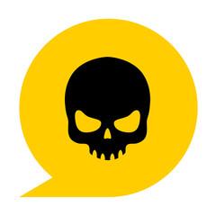 Icono simbolo calavera amarillo