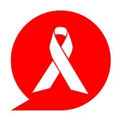 Icono simbolo lazo solidario