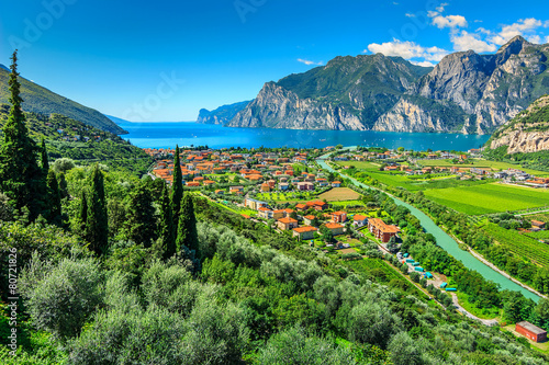 Beautiful sunny day on Lake Garda,Torbole.Italy,Europe - 80721826