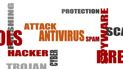 internet security relative tags cloud