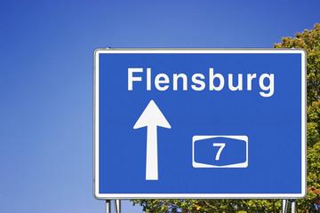 Schild A7 Richtung FL
