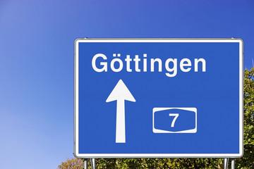 Schild A7 Richtung GÖ